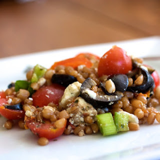 Greek Wheat Berry Salad.