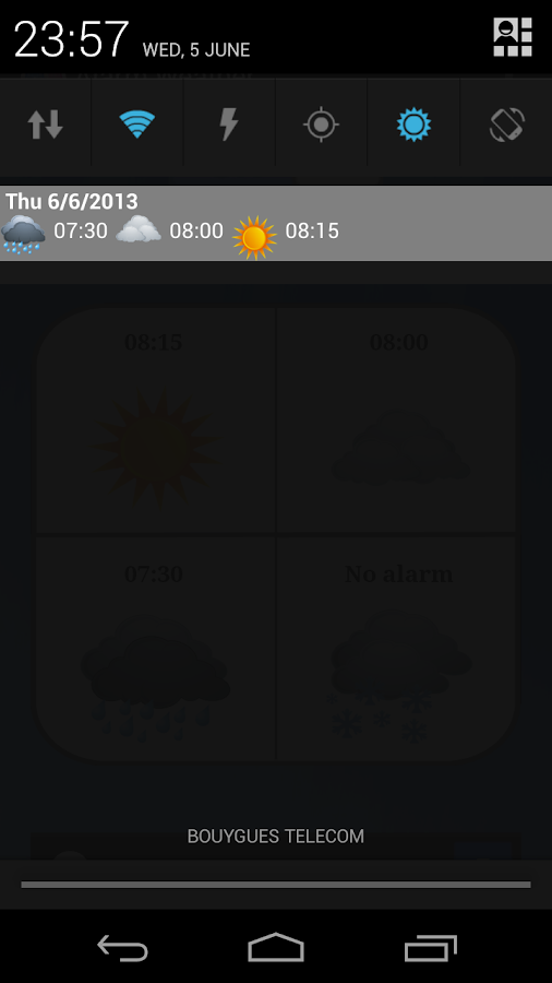 Alarm Weather (Alarm Clock) - screenshot