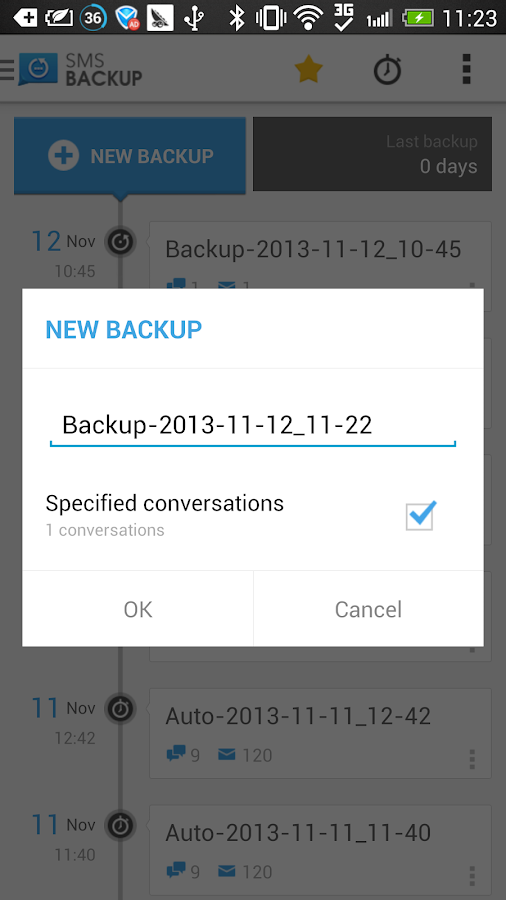 SMS Backup & Restore (Kitkat)- screenshot