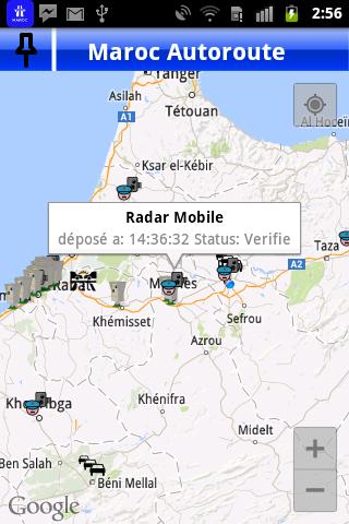 carte radars fixes maroc