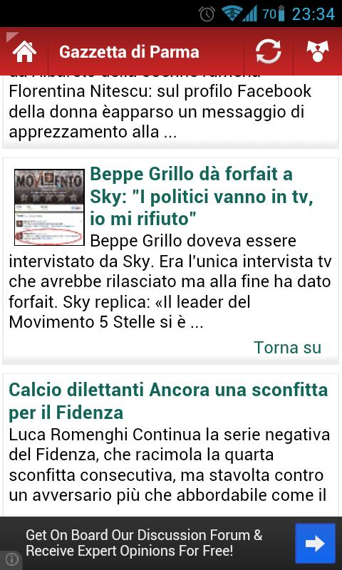 Tutti i Quotidiani Italiani - screenshot