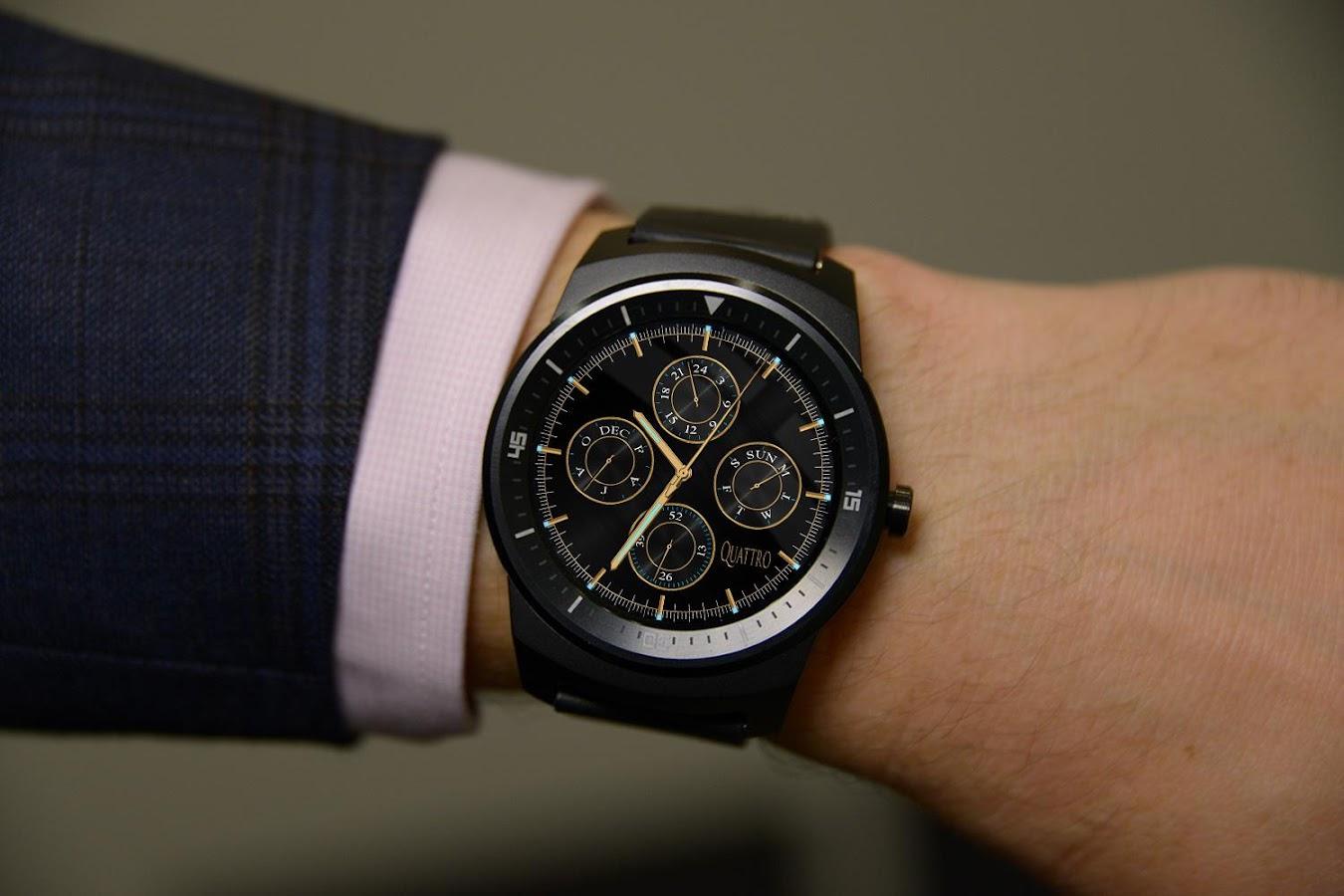Designer android wear watchface - Watch Face Quattr Android Wear Screenshot