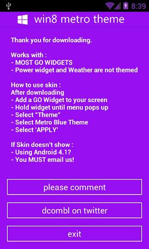 GOWidget - Win8 Purple Theme