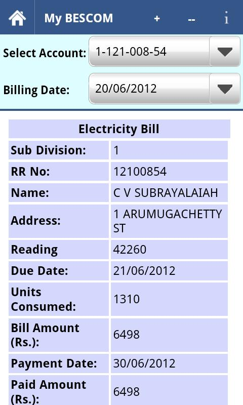 Electricity Bill Equation