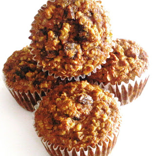 Coconut Flour Carrot Oatmeal Muffins.