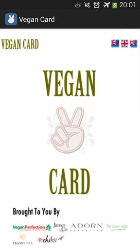 My Vegan Card