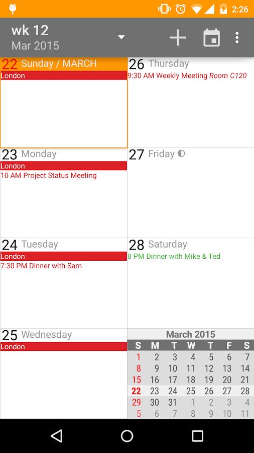 aCalendar+ Calendar & Tasks - screenshot