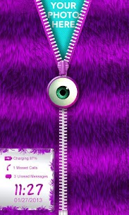 ★Purple Striped Zipper Locker★ - screenshot thumbnail