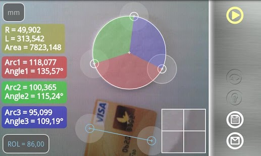 Partometer - camera measure - screenshot thumbnail