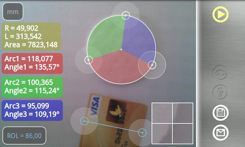 Partometer - camera measure - screenshot