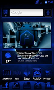 BlueGinger Theme CM7 screenshot 1