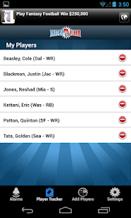 FantasyAlarm Fantasy Football - screenshot thumbnail