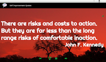 Screenshot of Self Improvement Quotes