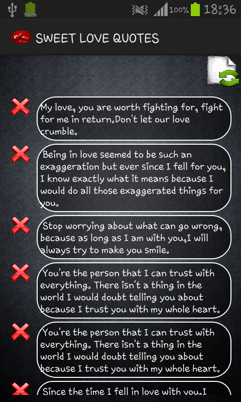 sweet love quotes android apps on google play