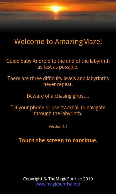 AmazingMaze Lite - screenshot