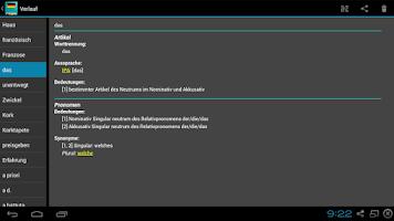 Screenshot of German Dictionary Offline