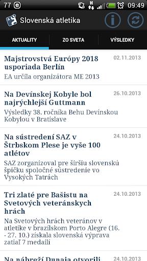 Slovenská atletika