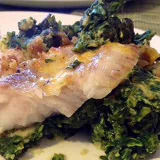 Aunt Carol's Spinach and Fish Bake.