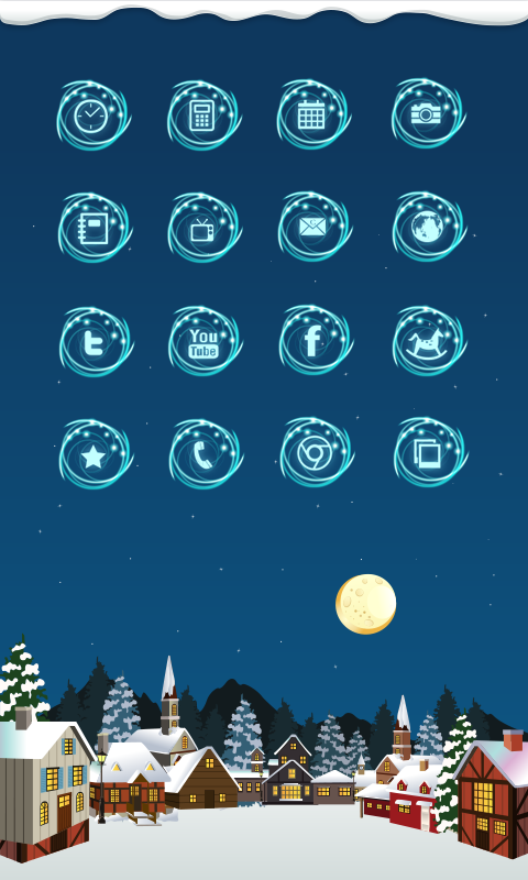 snow village icon theme - screenshot