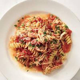 Fusilli with Chicken and Tomato Sauce.