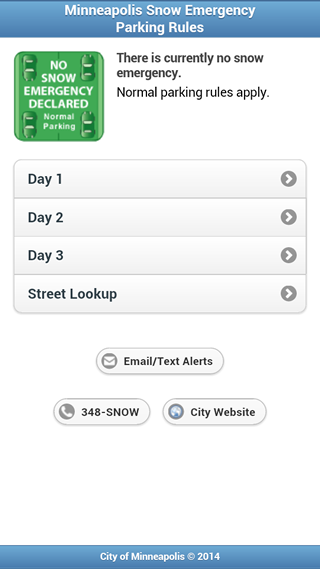 Mpls Snow Emergency Rules - screenshot