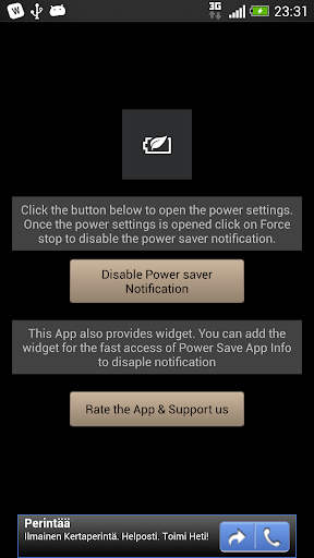 Power Saver Disable HTC