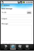 Screenshot of Easy Email for hotmail & live