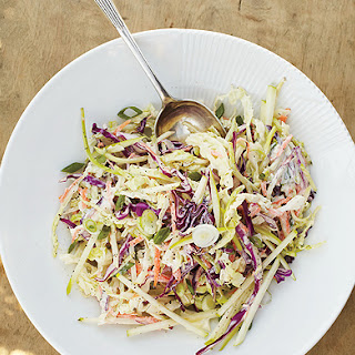 Coleslaw with Apple and Yogurt Dressing.