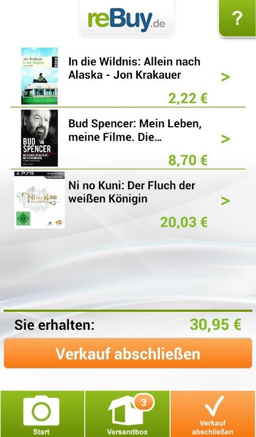 reBuy.de Scanner - screenshot