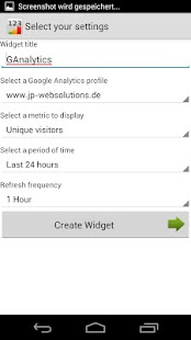 Analytics Widget - screenshot thumbnail
