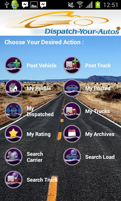 Dispatch-Your-Autos - screenshot