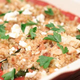 Zucchini Stuffed with Israeli Couscous.
