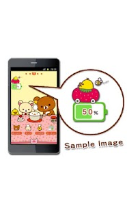 Rilakkuma Battery Widget 3- screenshot thumbnail