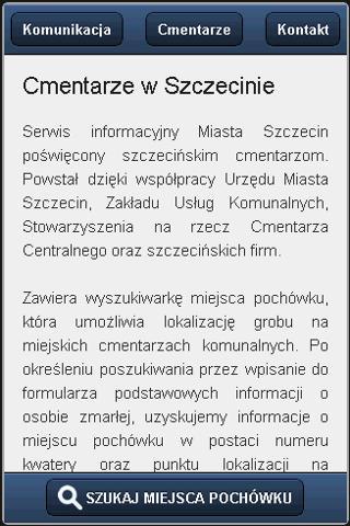 Szczecińskie Cmentarze- screenshot