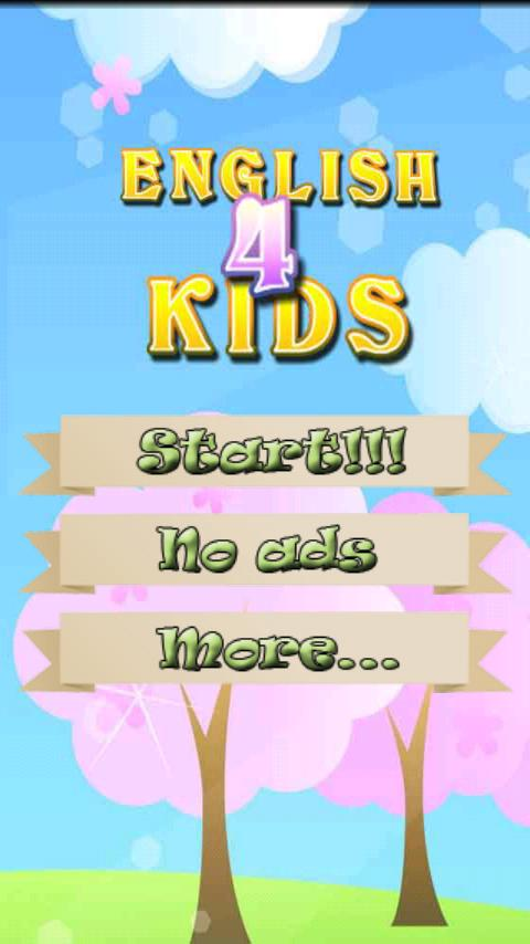Kids English vocabulary - screenshot