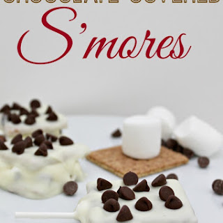 Chocolate Covered S'more Pops
