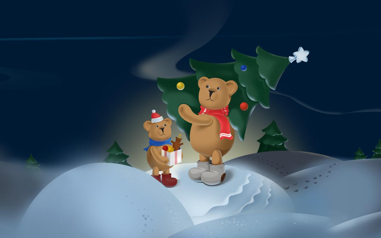 Christmas Bears Free LWP - screenshot