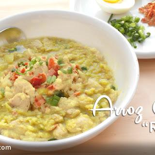 Ultra Low Carb Arroz Caldo (Cauliflower Rice Soup)