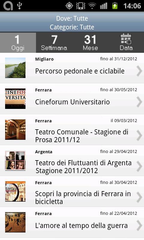 Ferrara Eventi- screenshot