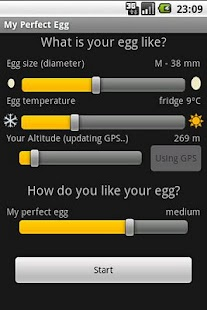 My perfect egg timer - screenshot thumbnail