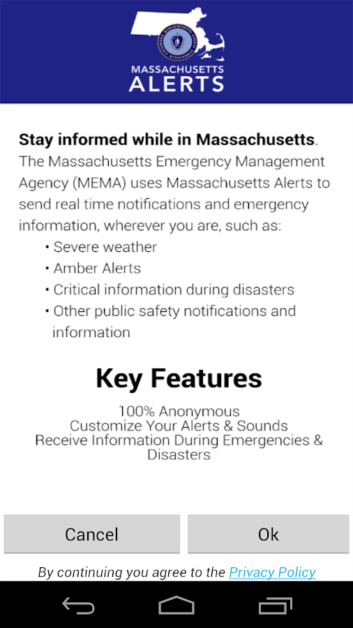 Massachusetts Alerts- screenshot