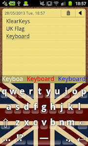 KlearKeys UK Flag Keyboard screenshot 1