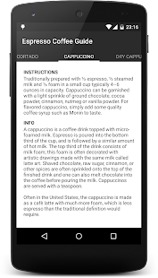 Espresso Coffee Guide Screenshot