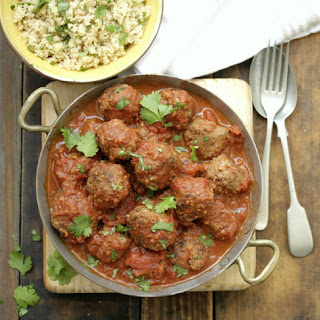 Moroccan Meatballs With Herb Couscous.