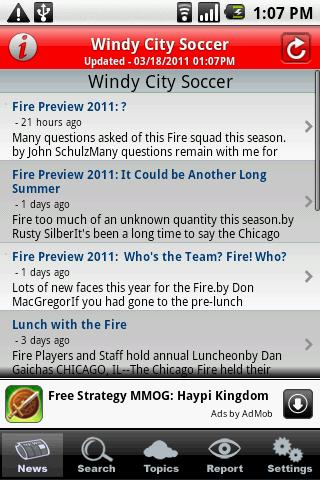 Windy City Soccer - screenshot