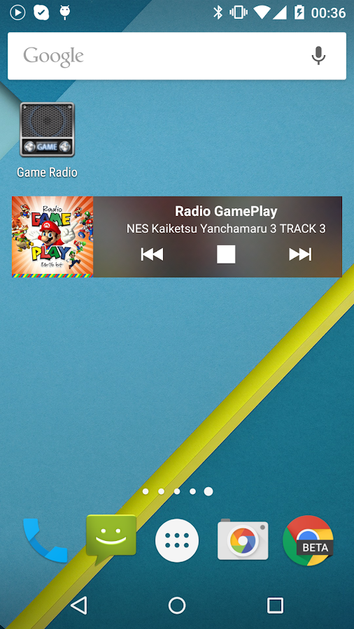 Game radio 8-bit music- screenshot