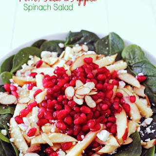 Pomegranate, Apple & Feta Spinach Salad