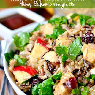 Kale and Wild Rice Bowls with Honey-Balsamic Vinaigrette
