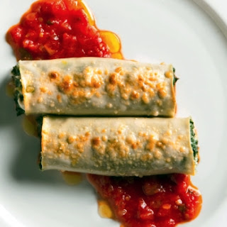 Cannelloni With Swiss Chard And Fresh Goat Cheese.