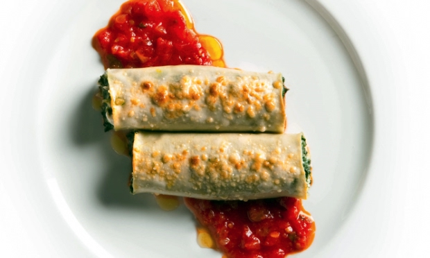 Cannelloni with Swiss Chard and Fresh Goat Cheese Recipe